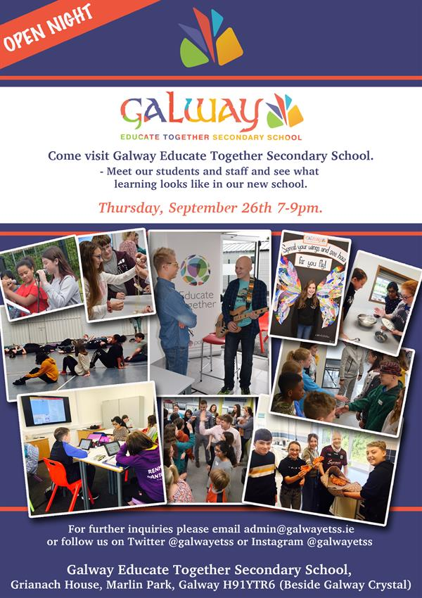 Come along to the Galway ETSS Open Night - Thursday September 26th